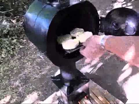 Chimney Oven on HD Rocket Stove
