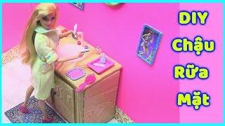 DIY Bồn Rữa Mặt Cho Phòng Tắm Búp Bê Barbie (đồ chơi trẻ - chị Bí Đỏ)
