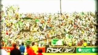Bloem Celtic fans celebrating at Seisa Ramabodu Stadium