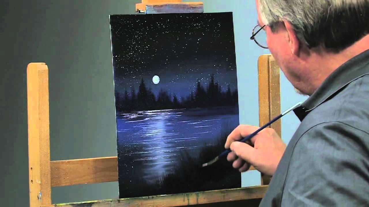 easy night scene paintings - photo #15