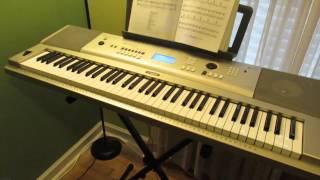 Yamaha YPG-235 Recording Layers Demo - Playing Keyboard