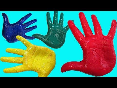 Сборник Учим цвета Learn colors Развивающий мультик Песня Про пальчики Рисуем на руке Семья пальчики