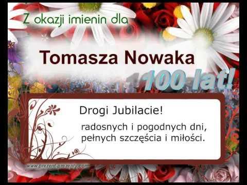 Piosenka Dla Tomasza Na Imieniny Z Imieniem Tomasz