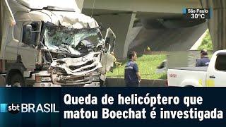 Helicóptero que transportava Boechat estava regular, diz Anac   SBT Brasil (11/02/19)