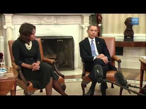 US Präsident Obama Und Michelle Obama Diskutierten Mit Müttern Zur US Gesundheitsreform Obamacare