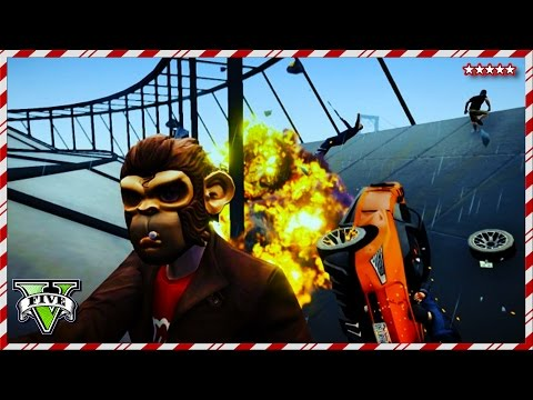 GTA 5 Funny Moments - EPIC JUMPS, STUNTS &RACES ! - 12 Days Of Christmas GTA V