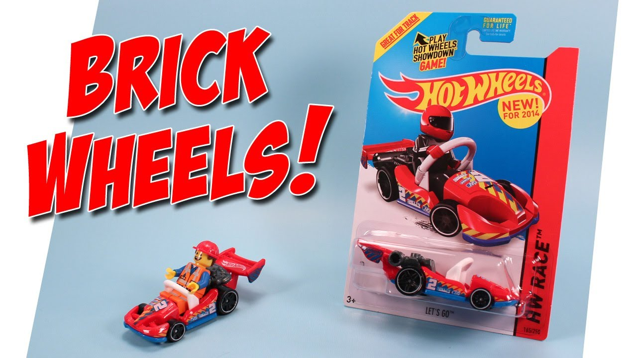 Hot Wheels Let S Go Lego Minifigure Go Kart Car 2014 Youtube