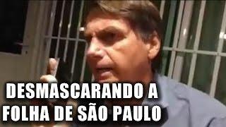 Bolsonaro enquadra jornalista da Folha e desmascara fake news