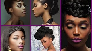 Top 20 Trendy Updo Hairstyles  for Black Women 2016