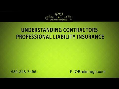 Understanding Contractors Professional Liability Insurance | PJO Insurance Brokerage