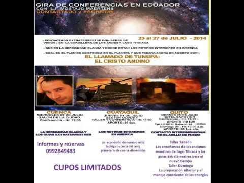 Luis Fernando Mostajo Ecuador 2014 entrevista radio Majestad al caer el sol con bernardo abad