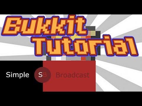Bukkit Tutorial #1  | SimpleBroadcast! [HD]