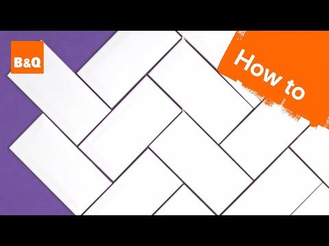 How to install herringbone tile backsplash