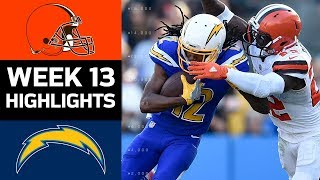 Browns vs. Chargers   NFL Week 13 Game Highlights