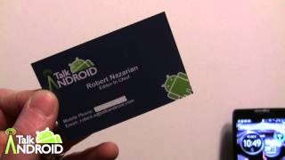 Hands on Demo of NFC Business Cards from TapMyBiz