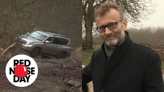 Hugh Dennis and Katy Brand test their Convoy cars!
