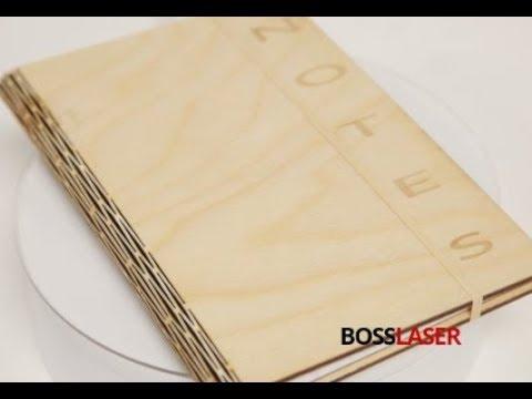 Laser Cut Living Hinge Wooden Notebook - Free File Download