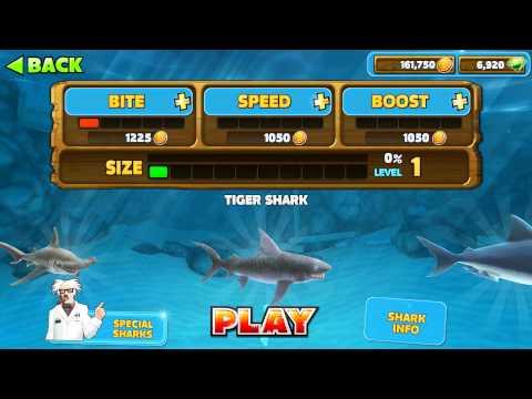 [HUNGRY SHARK EVOLUTION] Unlock/Upgrade All Sharks (HD 1080p)