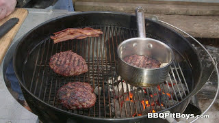 Whiskey Bacon n' Egg Cheeseburger by the BBQ Pit Boys