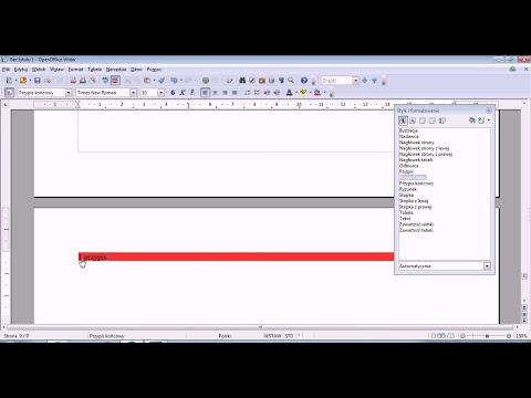 Formatowanie przypisów dolnych i końcowych OpenOffice Writer