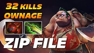 ZIP FILE PUDGE | 32 Kills Ownage | Dota 2 Pro Gameplay