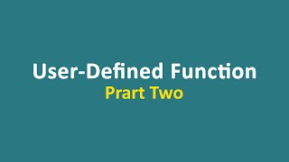 Lecture 19 - Function (part 2)