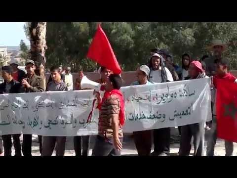 الحنشان:دواوير تحتج أمام مقر قصر البلدية بسبب العطش والإهمال والتهميش.