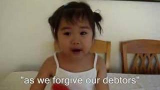 "MUST WATCH: Incredible 2 yr. old sings ""The Lord's Prayer""!!!"