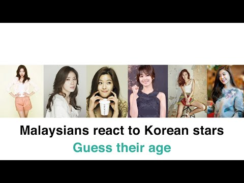 Malaysians React to Korean stars : Guess their age