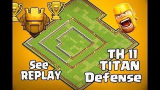 Th11 Defense Base | Anti 2 star base Anti Queen Walk Bowler Witch Anti Dragon : Clash Of Clans