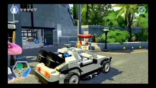 LEGO Jurassic World - Back to the Future DeLorean