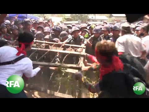 Myanmar Police Clash With Student Protesters