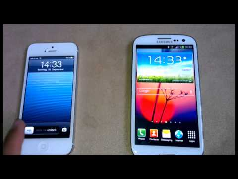 iPhone 5 vs Samsung Galaxy S3 Battery Test