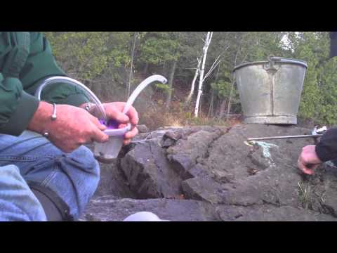 Crevicing For Gold on the Vermillion River in Northern Ontario with a pocket dredge