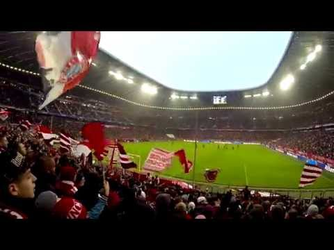Bayern München - Hamburger SV 14.02.2015, Südkurve Allianz Arena Fangesang