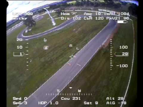 Trex 500 Helicopter FPV with Telemetry at winton drift practice