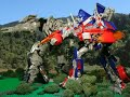 Transformers: RotF - Forest Battle (stop-motion)