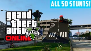 GTA 5 Online: Complete ALL 50 Stunt Jumps In 15 minutes! (GTA V)