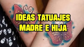 30 Ideas de tatuajes para madre e hija! - 30 Tattoo Ideas for mother and daughter!