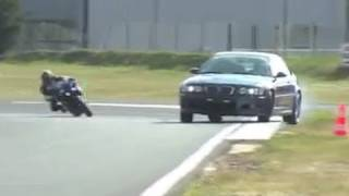 BMW M3 E46 vs Yamaha R1 drift session on track (Motorsport)