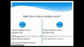 Matte med Hamid lektion 23, åk9. Primtal, faktorisering och delbarhetsregler (Arabiska)