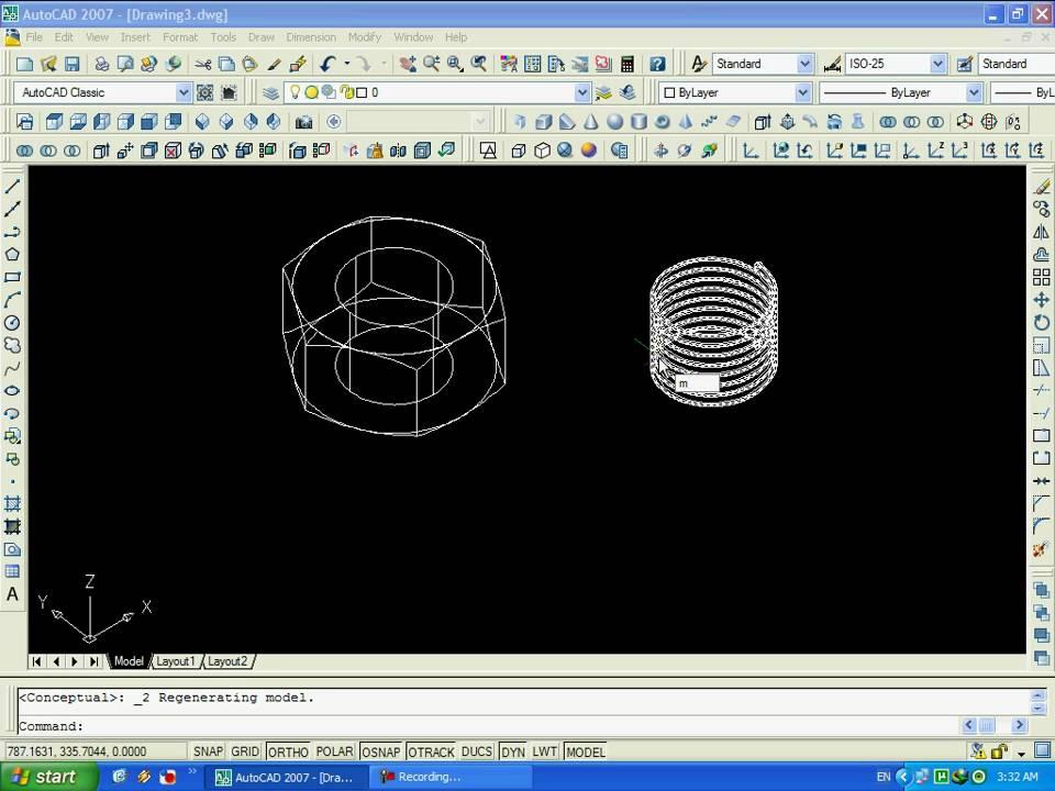 Как создать слои в автокаде 2007