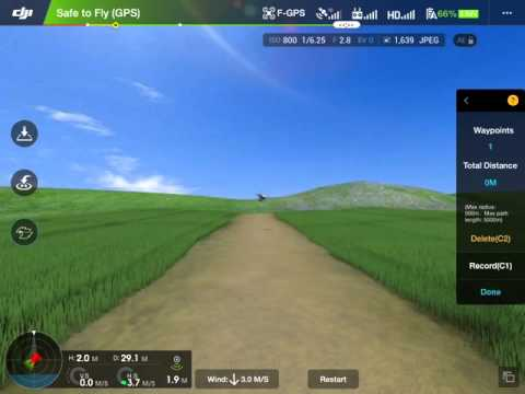 Tracking a moving subject using waypoints with the DJI Phantom 3 Advanced