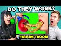 DO THEY WORK? Trying Troom Troom Hacks and 5-Minute Crafts | Adults React