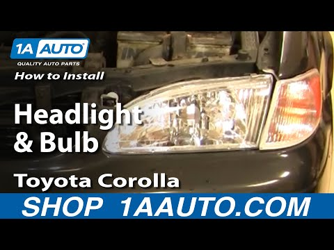 How To Install Replace Headlight and Bulb Toyota Corolla 98-02 1AAuto.com