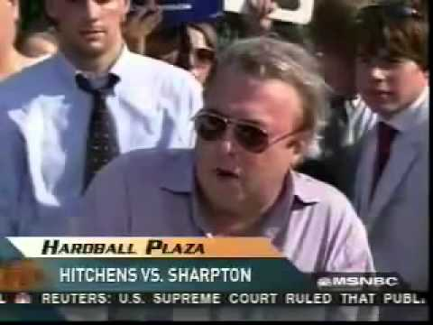 Christopher Hitchens - On Harball discussing religion with Al Sharpton