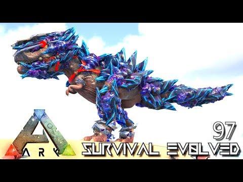 ARK: SURVIVAL EVOLVED - NEW TEK ARMED TREX FOREWORLD MYTH E97 (MOD ARK EXTINCTION CORE)