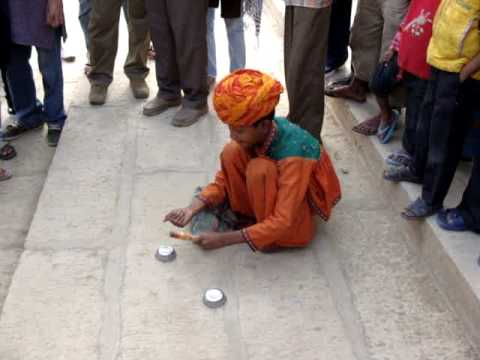 Street Magic by Rajasthani boy