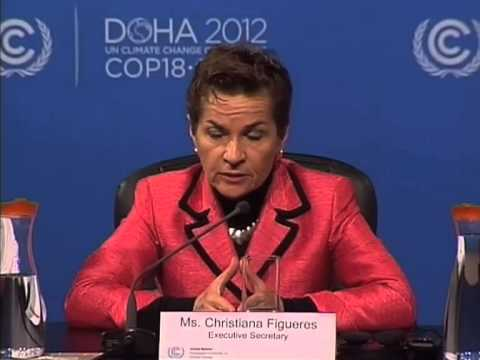 Doha update by UNFCCC Executive Secretary, Christiana Figueres
