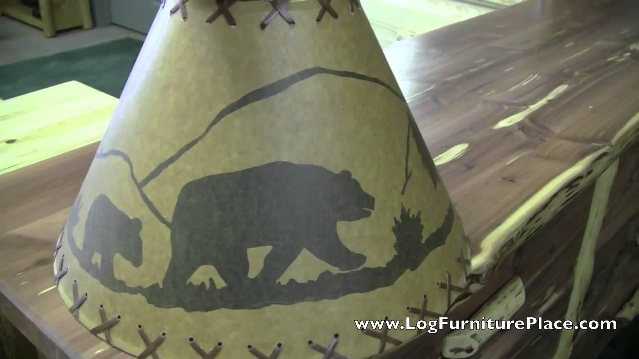Bear Scene Lamp Shade Rustic Decor Lampshades Jhe